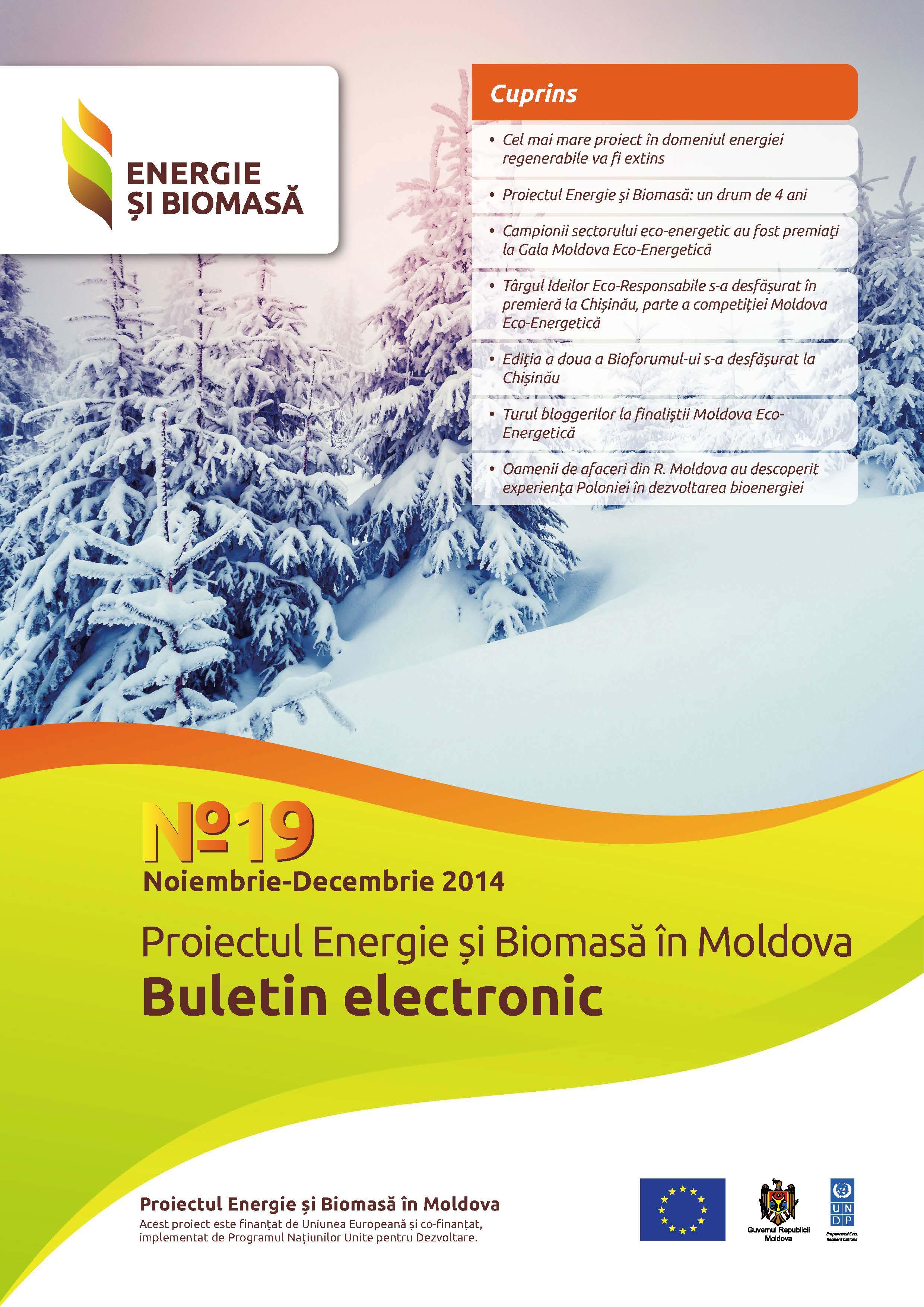 Energie si Biomasa, Buletin Electronic № 19