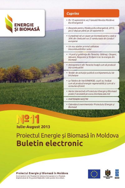 Energie si Biomasa Buletin Electronic Nr. 11