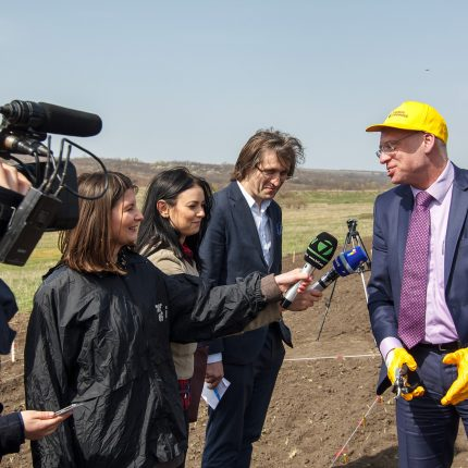 The first energy willow trees were planted at a vocational school in Orhei