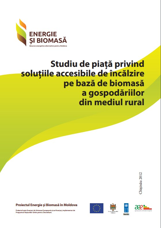 Studiu de piaţă privind soluţiile accesibile de încălzire pe bază de biomasă a gospodăriilor din mediul rural