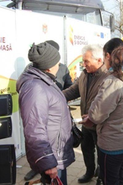 Caravana de cazane pe biomasă s-a lansat astăzi în satul Olăneşti, raionul Ştefan Vodă