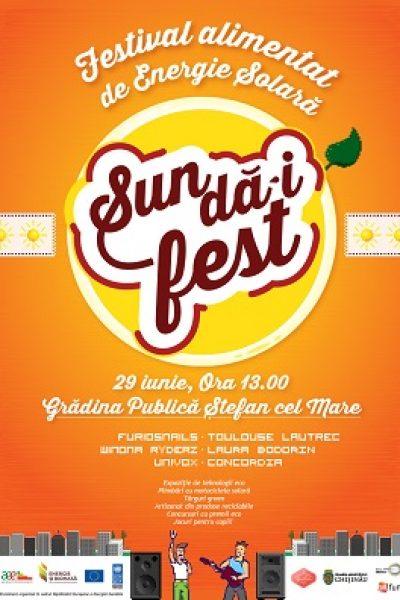 SUN DĂ-I FEST ne energizează Duminică, 29 iunie, în Grădina Publică Ştefan cel Mare