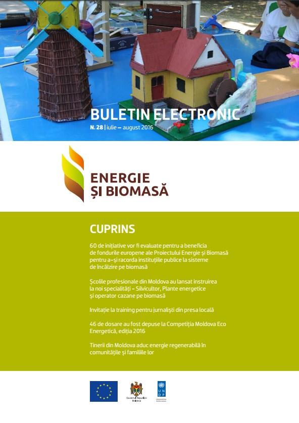 Energie si Biomasa, Buletin Electronic № 28